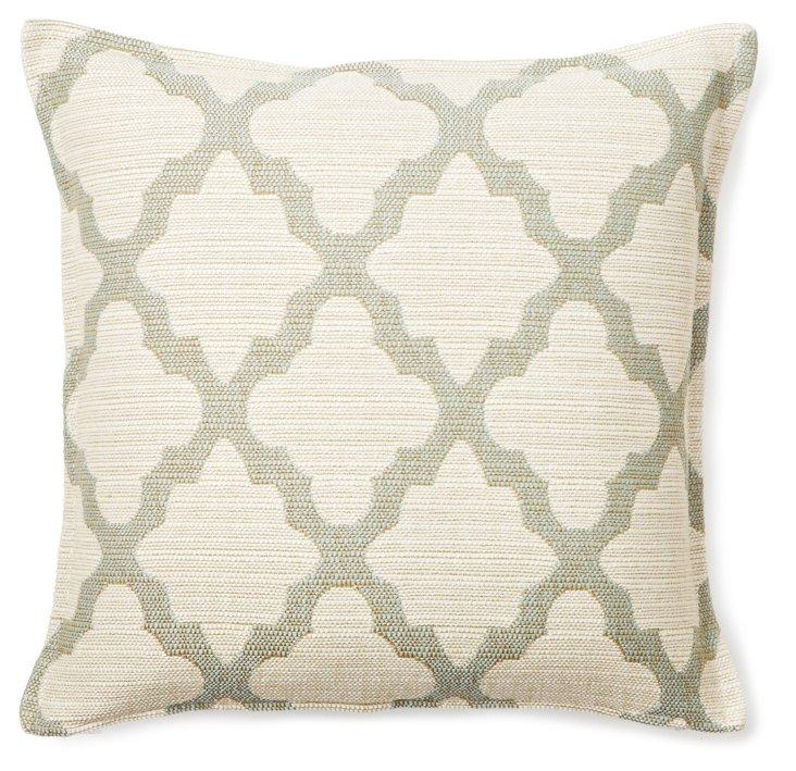 Neutral 16x16 Cotton Pillow, Beige