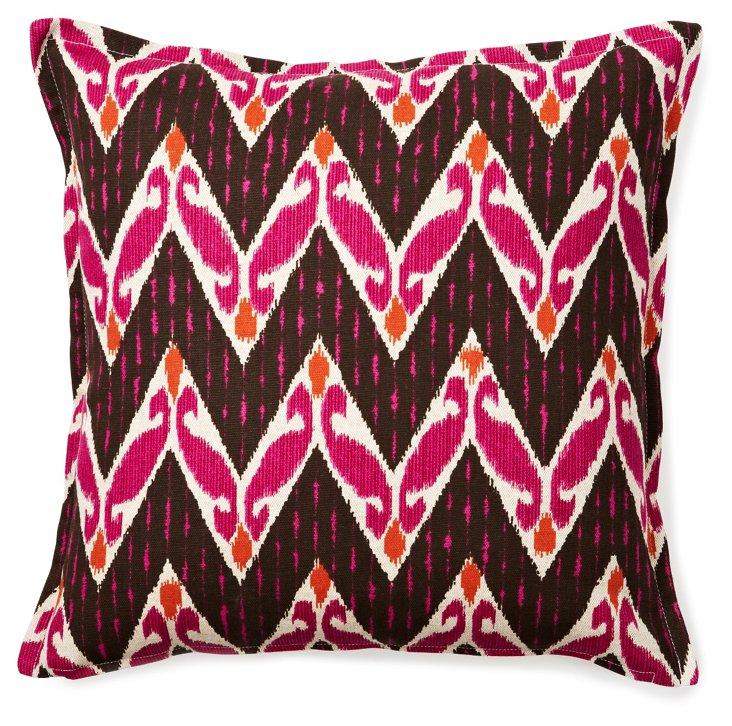 Bold 16x16 Cotton Pillow, Raspberry