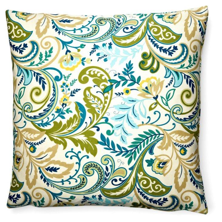 Ferns 20x20 Outdoor Pillow, Green