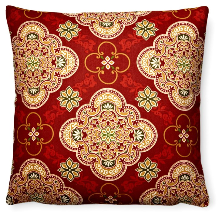 Grand Tile 20x20 Outdoor Pillow, Red