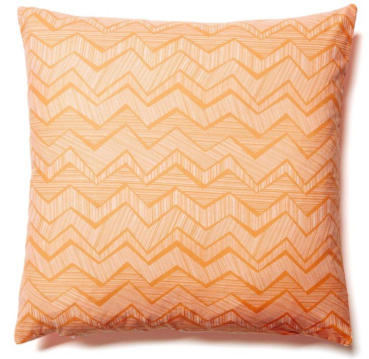 Doodle 20x20 Cotton Pillow, Orange