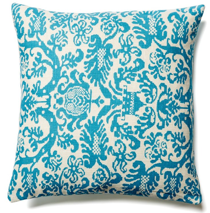Lush 20x20 Cotton Pillow, Teal
