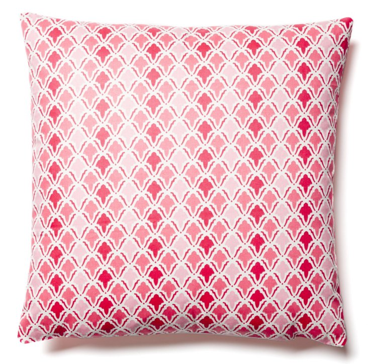 Scale 20x20 Cotton Pillow, Pink