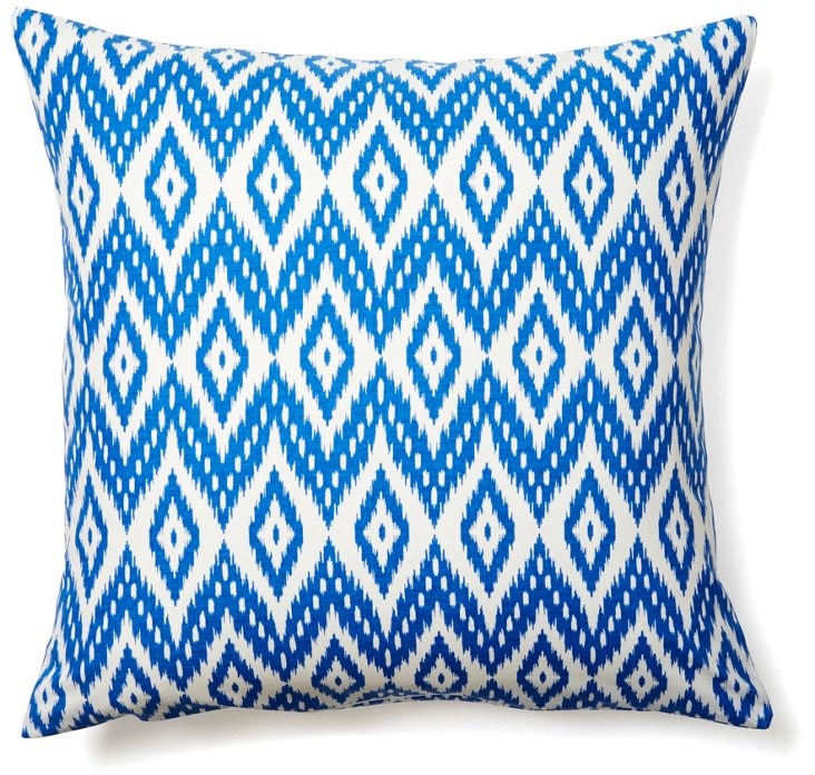 View 20x20 Cotton Pillow, Blue