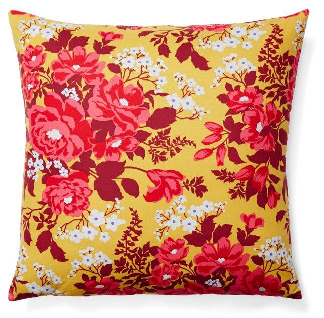Floral 20x20 Cotton Pillow, Multi