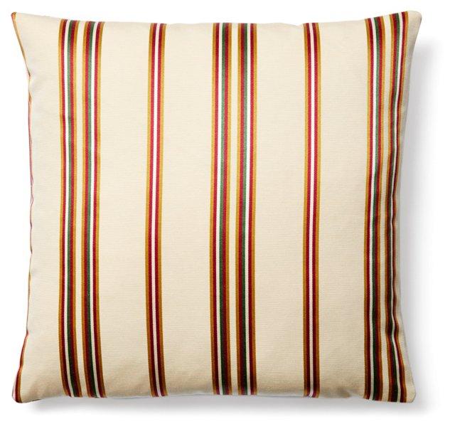 Stripe 20x20 Pillow, Beige