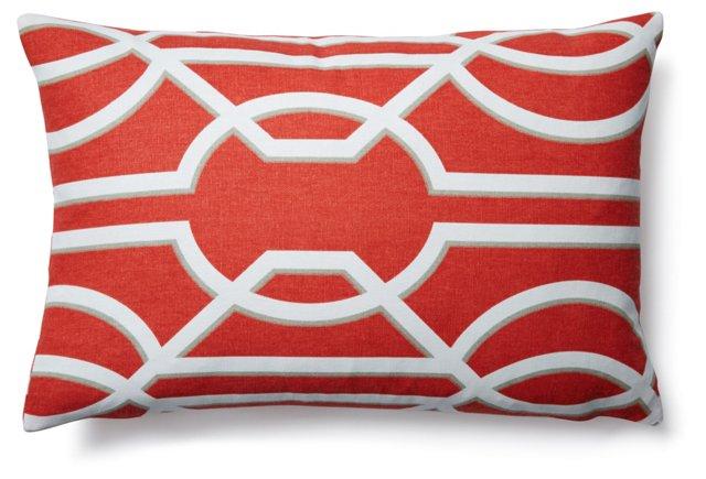 Trellis 12x18 Cotton Pillow, Multi