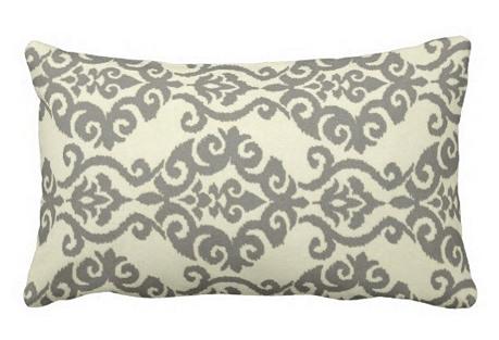 Trellis 12x18 Outdoor Pillow, Gray