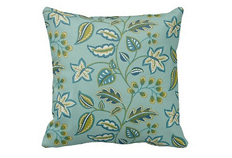 Floral 20x20 Outdoor Pillow, Green