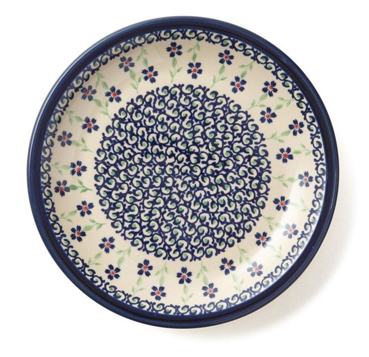 Dinner Plate, Blue Scroll