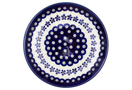 Salad Plate, Peacock