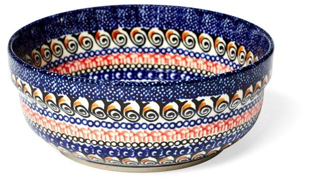 Dessert Bowl, Blue Flowers