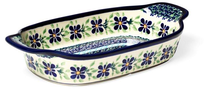Small Dip Bowl, Blue Daisy