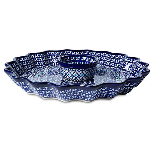 """11"""" Hors d'oeuvre Fluted Pie Plate"""