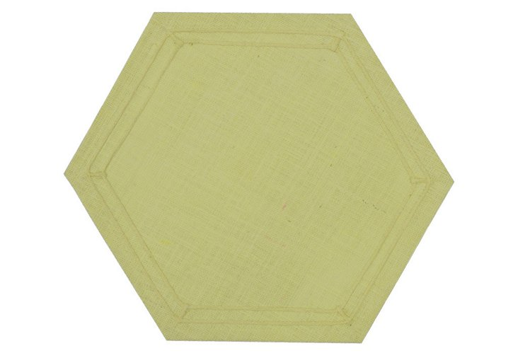 S/4 Hexagon Place Mats, Olive