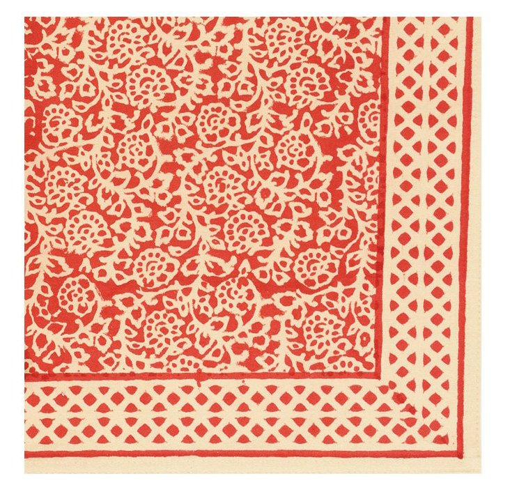 S/4 Lucy Napkins, Crimson