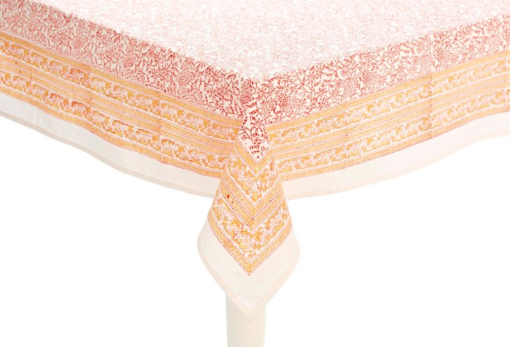 Ava Tablecloth, Tangerine
