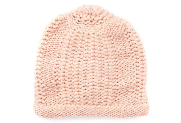 Honeycomb-Stitch Hat, Rose Cloud