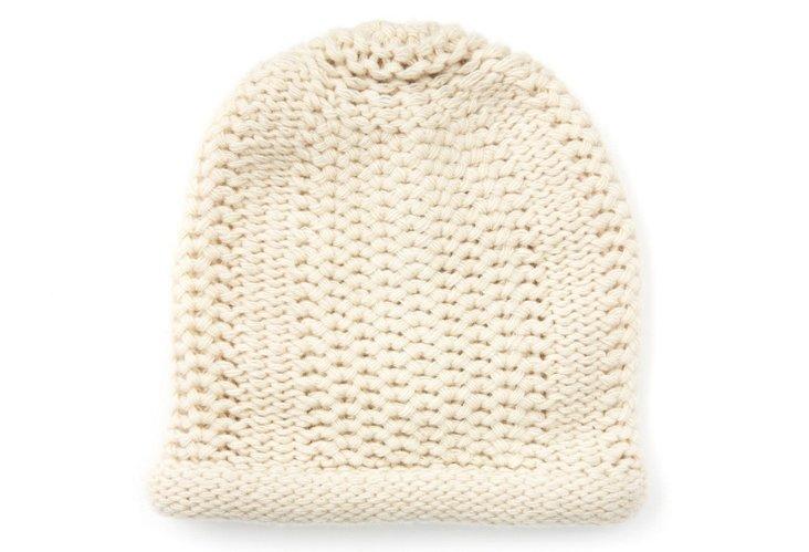 Honeycomb-Stitch Hat, Yogi Ivory