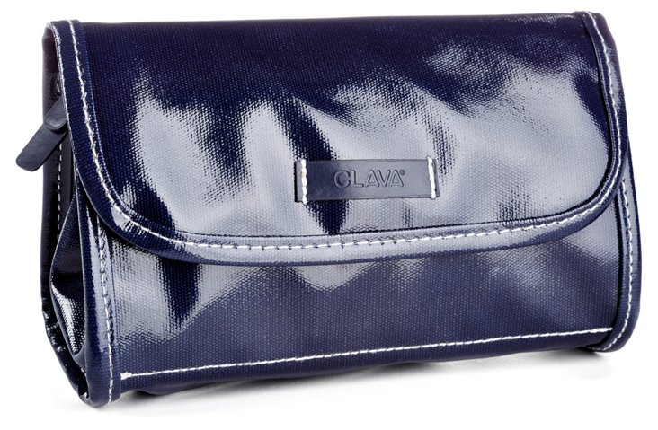 Patent Makeup Pouch, Navy