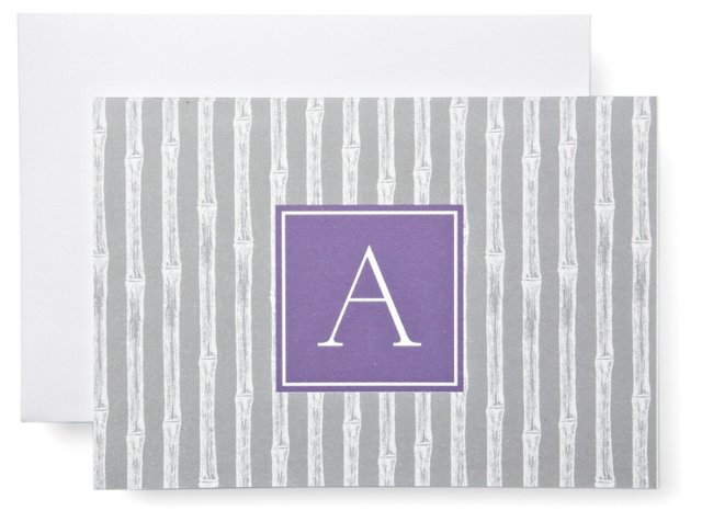 S/20 Initial Notes in Box, Silver/Purple