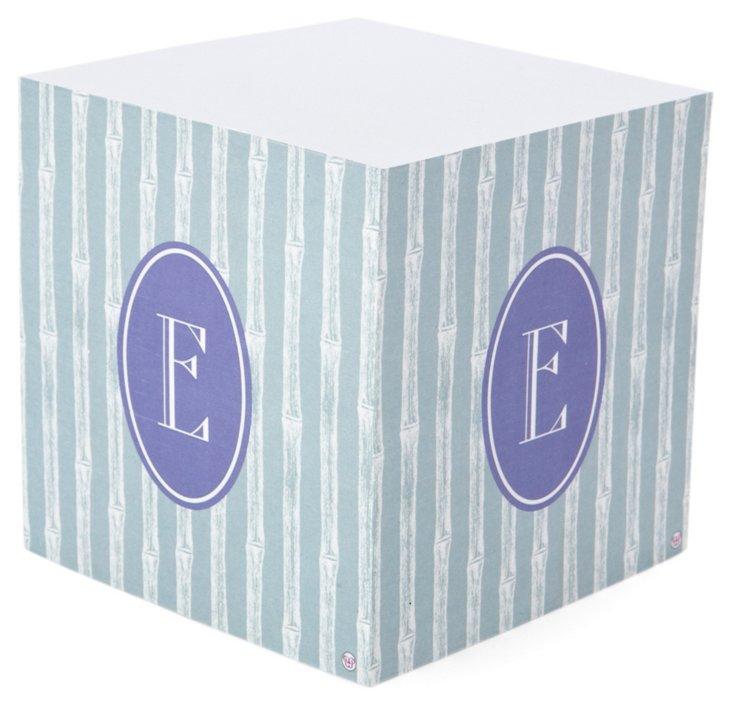 Sticky Note Cube, Silver & Purple
