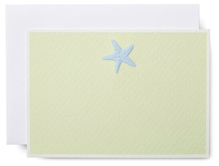 S/10 Engraved Seastar Note Cards