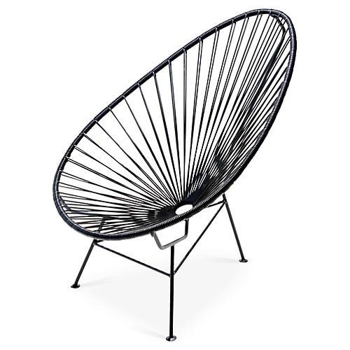 Acapulco Lounge Chair, Black
