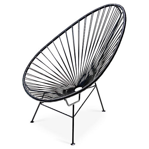 Acapulco Lounge Chair, Black