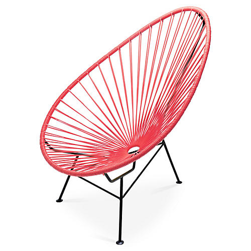 Acapulco Lounge Chair, Coral