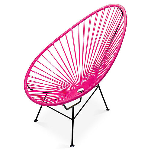 Acapulco Lounge Chair, Magenta