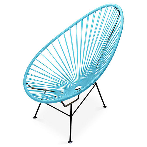 Acapulco Lounge Chair, Baby Blue