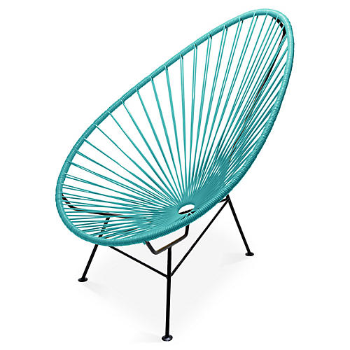 Acapulco Lounge Chair, Turquoise
