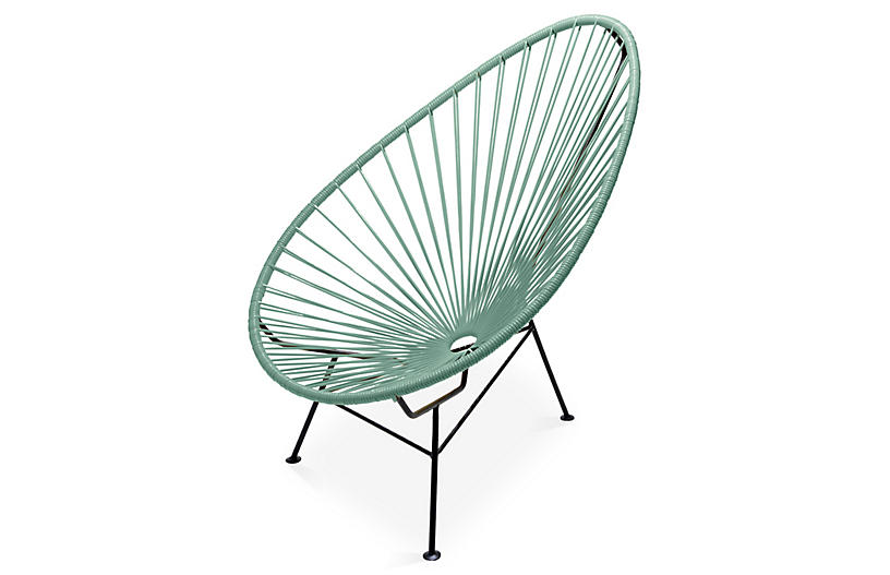 Acapulco Lounge Chair, Olive Green