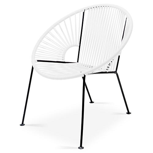 Ixtapa Lounge Chair, White