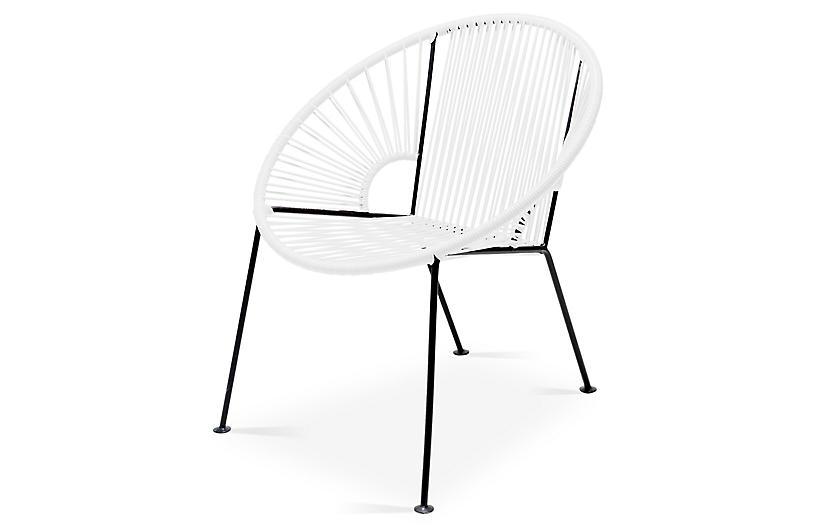 Ixtapa Lounge Chair, White