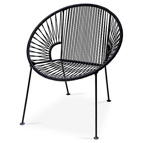 Ixtapa Lounge Chair, Black