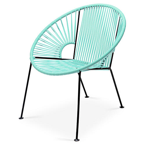 Ixtapa Lounge Chair, Mint