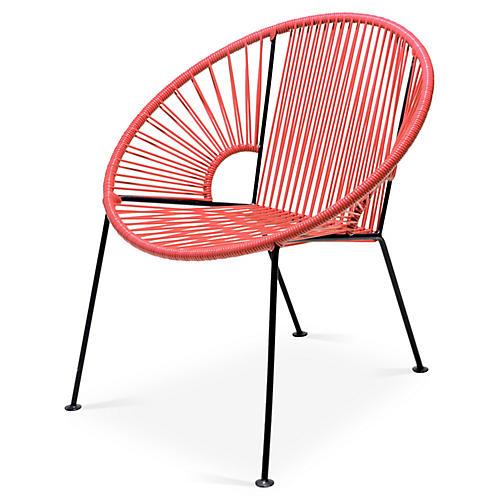 Ixtapa Lounge Chair, Coral
