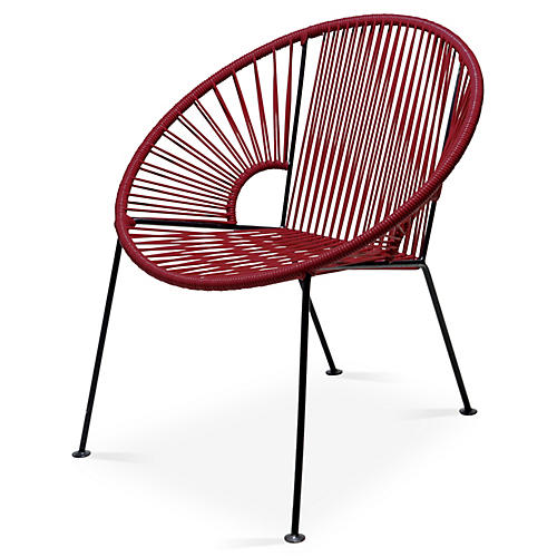 Ixtapa Lounge Chair, Burgundy