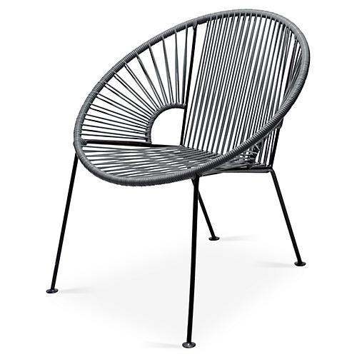Ixtapa Lounge Chair, Stone Gray