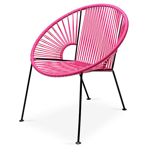 Ixtapa Lounge Chair, Magenta