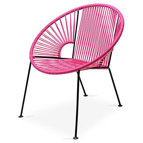 Ixtapa Lounge Chair, Magenta