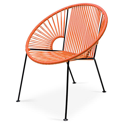Ixtapa Lounge Chair, Tangerine