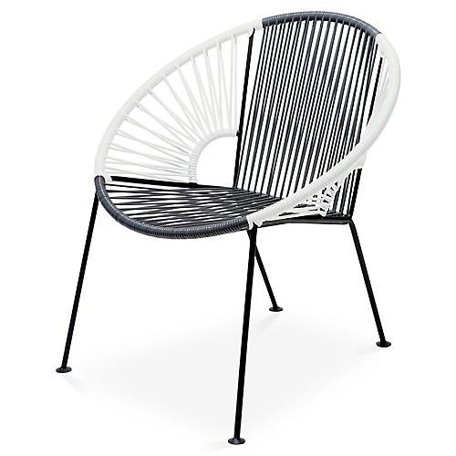 Ixtapa Lounge Chair, Gray/White
