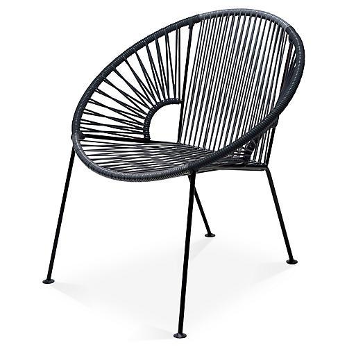 Ixtapa Lounge Chair, Gray/Black
