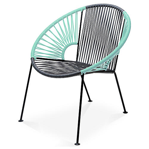 Ixtapa Lounge Chair, Gray/Mint