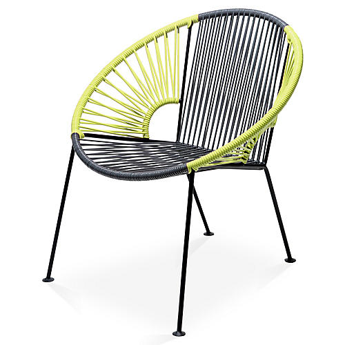 Ixtapa Lounge Chair, Gray/Apple Green