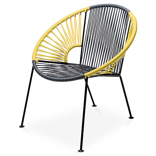 Ixtapa Lounge Chair, Gray/Yellow