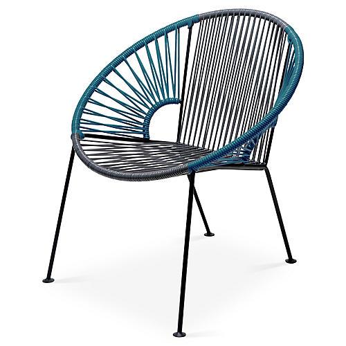 Ixtapa Lounge Chair, Gray/Jungle Green